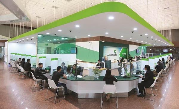 quầy giao dịch ngân hàng Vietcombank