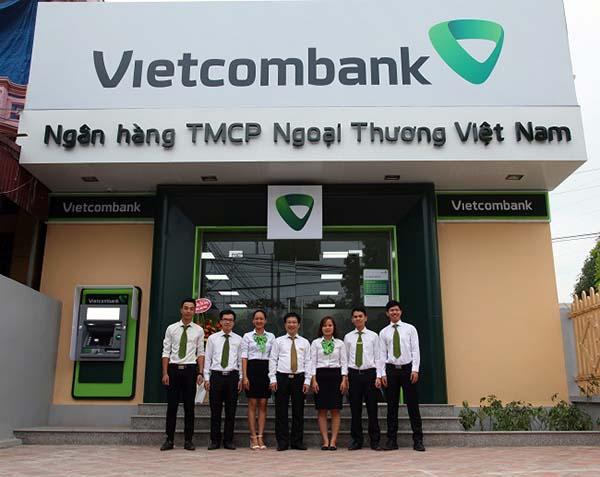 Một chi nhánh ngân hàng Vietcombank